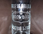 DAD Glass Etched Glass Cool Dad Father's Day Birthday Gift For Him Dad Drinking High Ball Glass