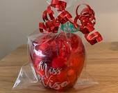 Personalised Teacher Apple Candy Apple Thank You Gift Sweets & Chocolates Gift School Teacher Gift Personalized Teacher Apple Gift Wrapped