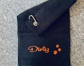 Pet Towel Personalised Dog Towel Hanging personalised dog towel Any Name Any Dog Towel