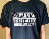 Grumpy Old Git Tee Grumpy Old Git T Shirt Funny Grumpy Old Man Funny Grandad Gift Dad Gift Adults Men's Black T Shirt Sizes From S - 2XL
