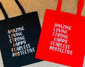 Mother Tote Bag Mother Shopping Bag Mother Gift Bag Empowering Mother Bag Mum Gift Bag Mothers Day Gift Amazing Mum Different Colour Bags