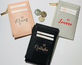 Personalised Purse Coin & Card Holder Personalised card holder Personalised Gift, Bridal Birthday Mother's Day Valentine Gift Gift for her