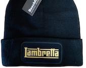 Lambretta Custom Beanies Unisex Winter Hat Cuffed Beanie - Logo available different colours, you chose colour