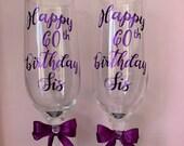 Personalised Glasses Gifts Custom gift Birthday, Wedding, Anniversary Valentine keepsake champagne Flutes Handmade