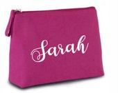 Personalised Make Up Accessory Bag, Cosmetics Bag, Bridesmaid Gift, Birthday Present, Mothers Day Gift, Travel Bag, Wash Bag