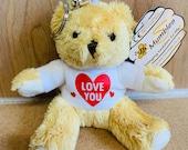 Custom Personalised Keyring Teddy Keyring Keyring Teddy Bear & Personalised T-Shirt Add Name Message on back Unique Gift romantic gift teddy