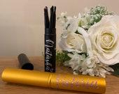 Personalised Mini Make Up Brushes Set Travel Make up Brushes Make Up Gift Set Gift for her Handbag Make Up Brushes Gold/Black Makeup Brushes