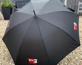 Custom Personalised Umbrella, Wedding Umbrella, Work Umbrella, Company Umbrella, Company Logo, Any Logo, Any Wording Black/White Umbrella