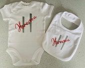 New Baby Gift Set, Personalised baby vest, bodysuit, baby gift, baby grow, body suit, personalised gift, baby present, babygrow announcement