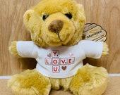 Personalised Teddy Bear - Personalised Gift Custom Print Teddy Bear Valentine Bear Wedding Gift Birthday Gift teddy bear