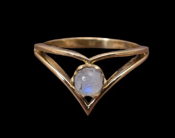 Brass Ring,Brass Band Ring,Ring For Her,Women Ring,Gift Ring,Unique Ring,Boho Ring Multistone Brass Ring,Moonstone Ring Turquoise Ring