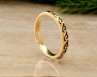 engraved ring,engraved brass ring,brass ring,midi ring,minimalist ring,boho rings,mens ring,rings for women,dragon shape ring
