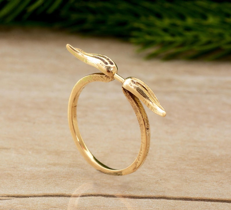 Angel Wings Ring,Brass Ring,Handmade Ring,Minimalist Ring,Statement Ring,Knuckle Ring,Wings Adjustable Ring,Rings for Women,Stacking Ring
