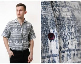 Pohland Vintage Pocket Shirt Maritim LXL Blue White Striped Cotton Button Down Oxford Preppy Popper
