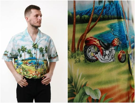 90s USA Hawaiian Graphic Cotton Vintage Shirt 1709
