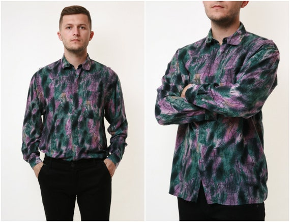 HEROES Vintage Abstract Pattern Mens Shirt 17935