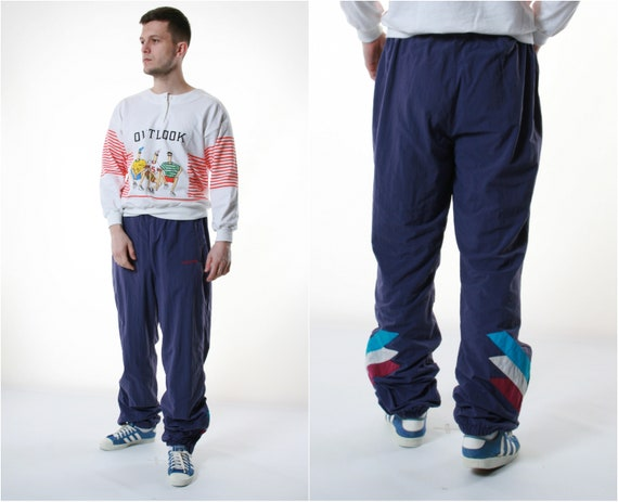 90s Vtg Rare Adidas Sport Trousers 13536