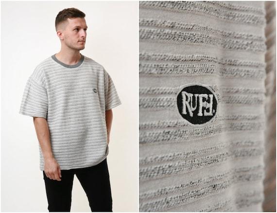 90s Vintage Cotton Striped Mens Style Tshirt 17666