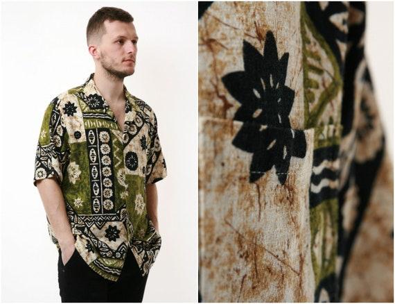 90s HAWAIIAN Abstract Vintage Cotton Shirt 17118