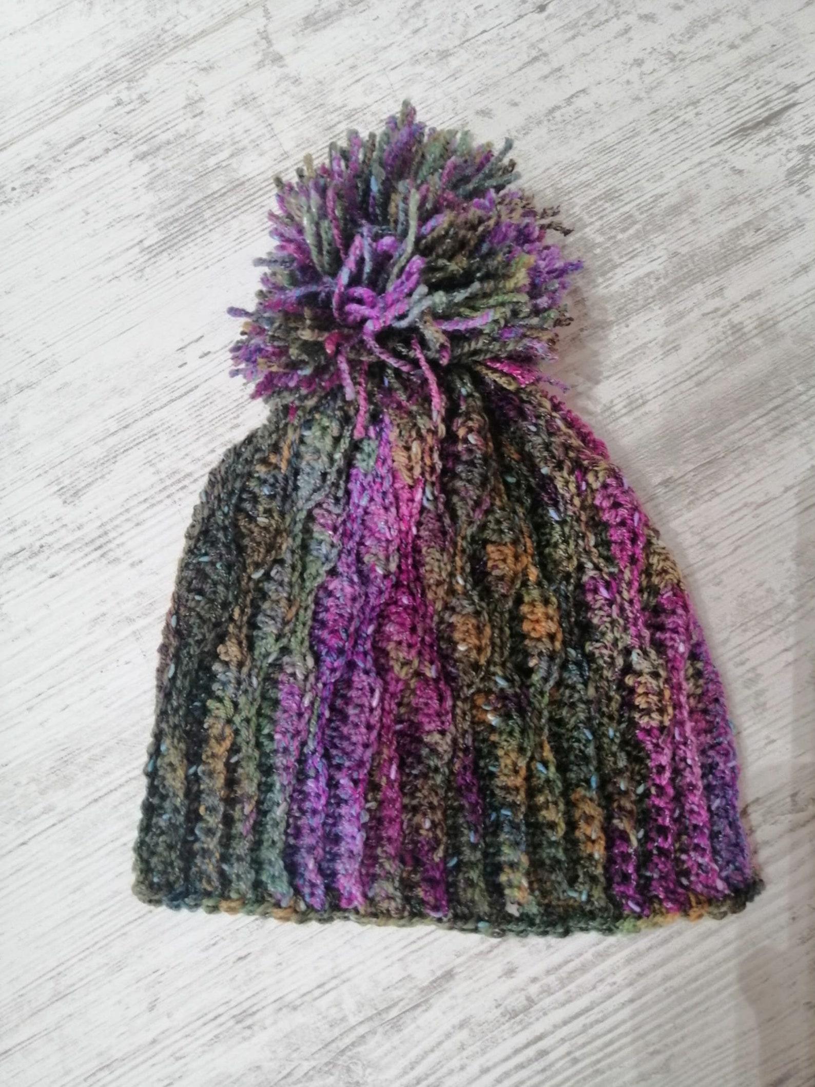Cappello donna ragazza con pompon ad uncinetto | Etsy