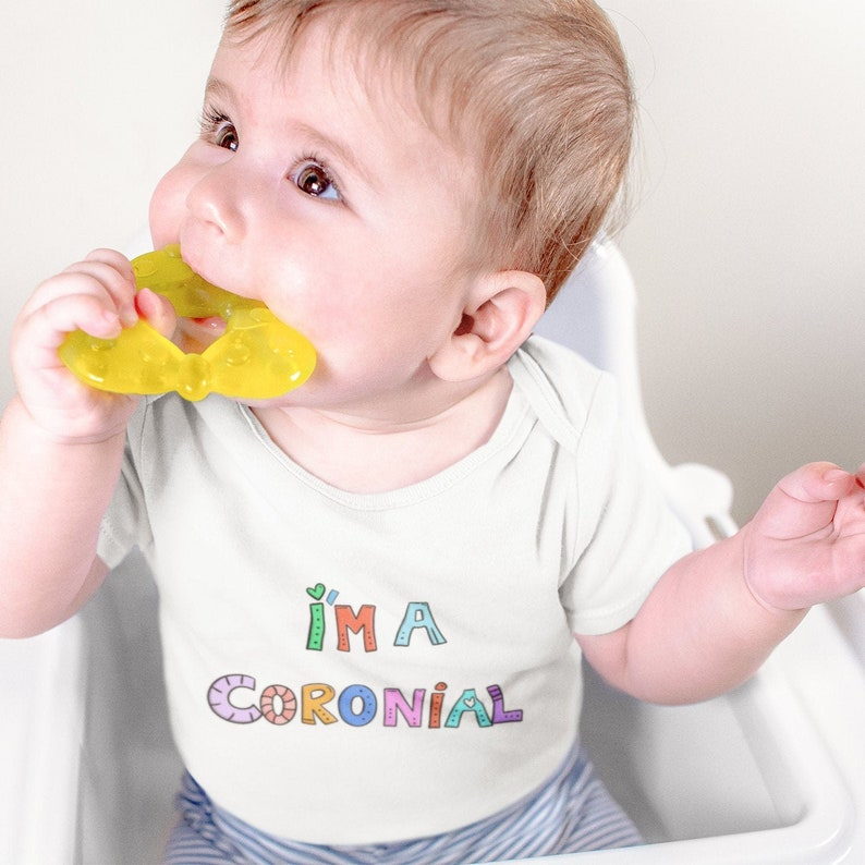 I/'m a Coronial funny corona virus customized baby onesie for social distancing Short Sleeve Unisex Pandemic,Lockdown Baby Bodysuit