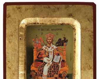 Christ Blessing, Great High Priest, enthroned, Byzantine icon, orthodox icon, handmade icon