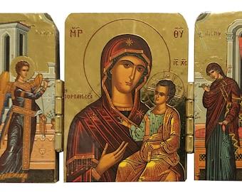 Virgin and Child, Hodegetria, Portaitissa (of the portal), Iveron, Byzantine icon, orthodox icon, handmade icon