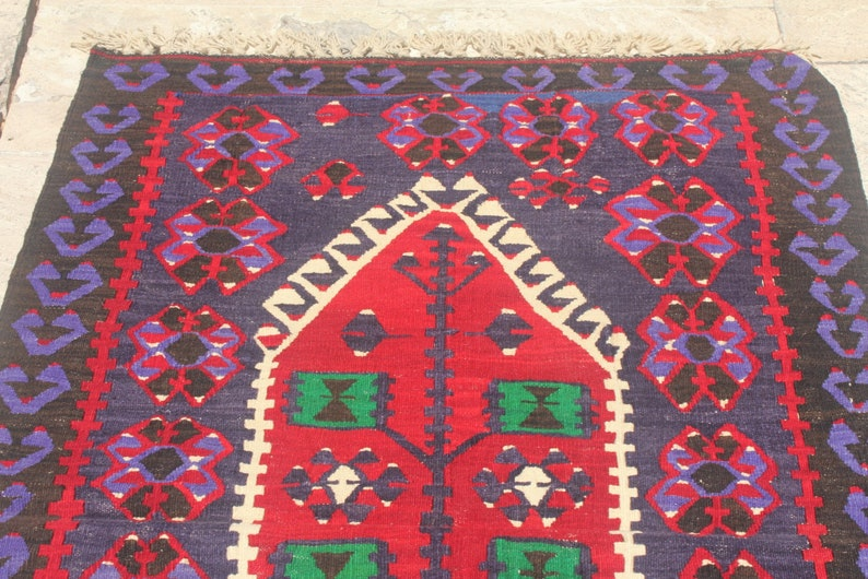 5/'1 x 3/'2 ft Rug Decor Rug Turkish Rug Handmade Rug K1386 Turkish Kilim Rug Kilim Rug Bohemian Rug Turkish Carpet Vintage Rug