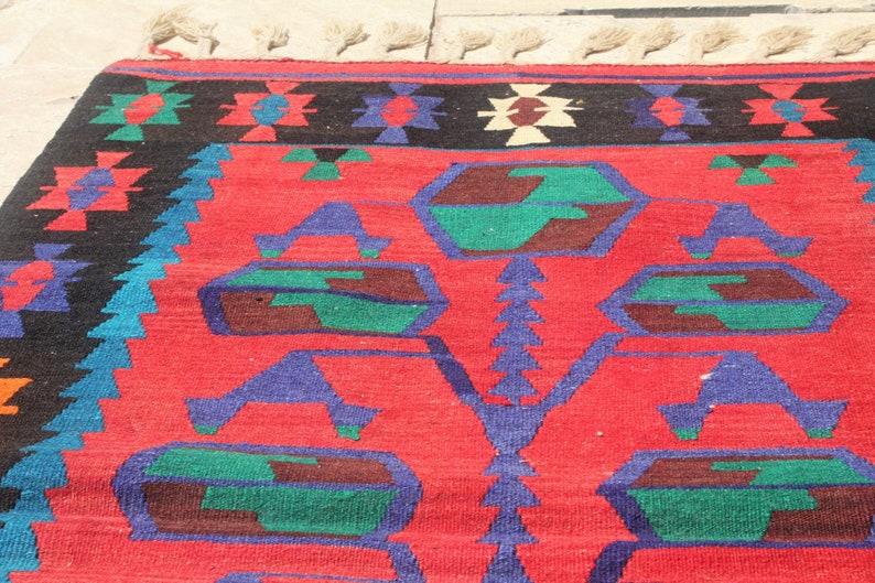 K1436 Bohemian Kilim Wool Rug Hand Woven Rug Area Rug Oushak Rug Kilim Rug 5/'4 x 2/'9 ft Rug Vintage Rug