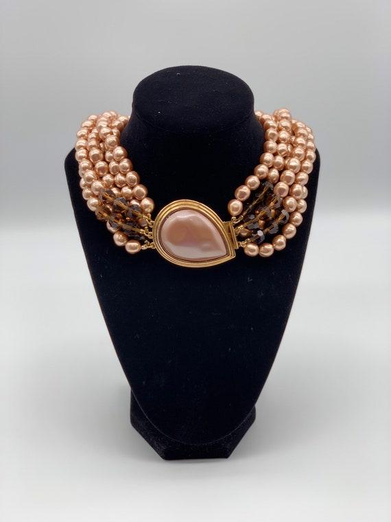 Vintage YSL Yves Saint Laurent Faux Pearl Necklace