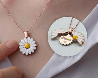 Accessory Daisy Necklace Best Friend Gift Personalized Daisy Charm Necklace Gardening Gift Daisy Flower Jewelry Birthday Gift