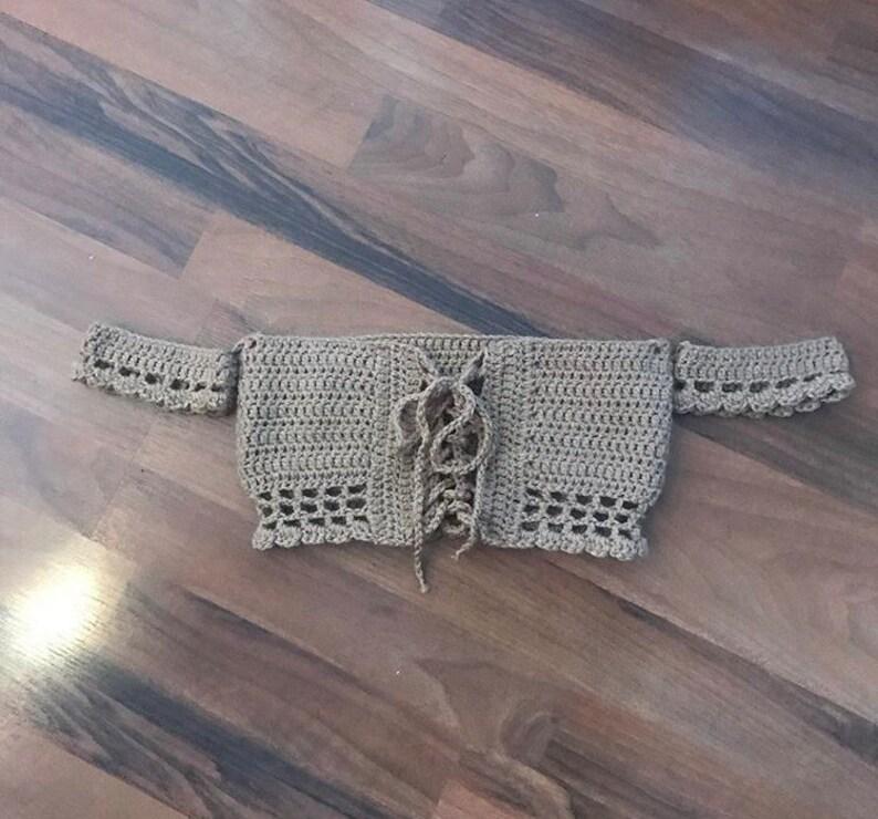 Crochet petals lace front off the shoulder crop top