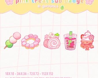 Pink Treats Sub Badges