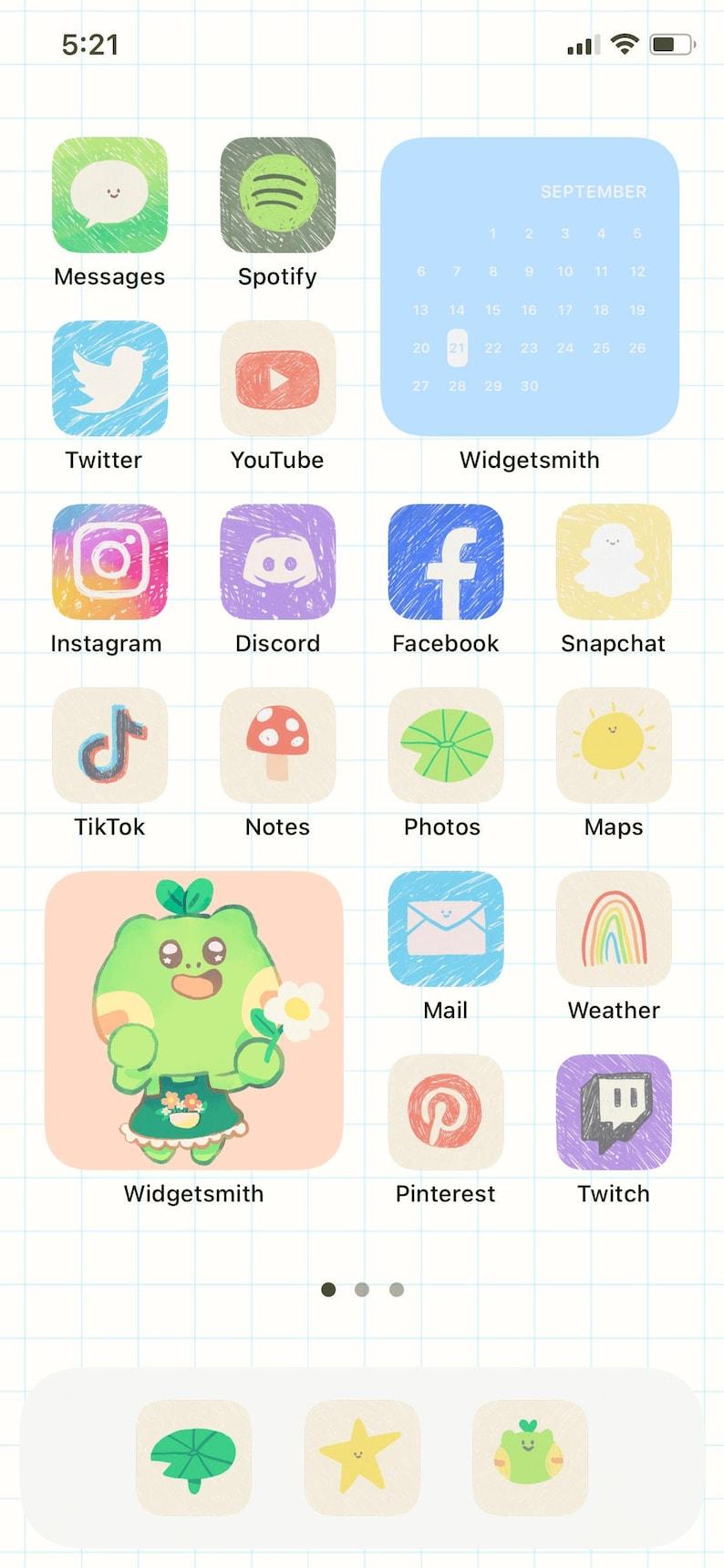 Doodle Theme  App Icons image 0