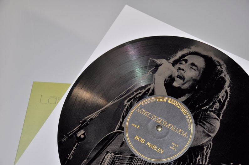 Bob Marley Laser Engraved Vinyl  LP Records  Wall Mount Records  Wall Decor  Unique Gift