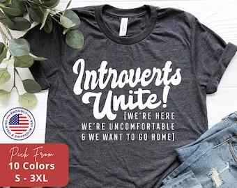 163125071 CafePress Introverts Unite Women/'s Dark T Shirt Womens T-Shirt