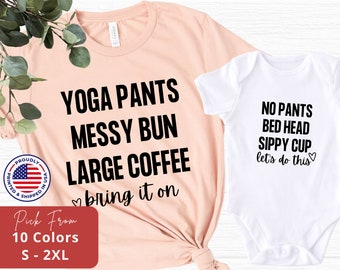 Mommy and me Outfit,Yoga top,Organic Bamboo,Mother Child set,mom baby matching,Mom Baby matching,family outfit,partnerlook,mothers day gift