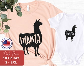 Mommy and Me Shirt, Mother and Daughter Matching Shirts, Mama Llama, New Baby, Mother's Day Gift, Baby Shower Gift, Family Listing - M023
