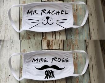 Friends Themed Masks:  Mrs. Ross and Mr. Rachel
