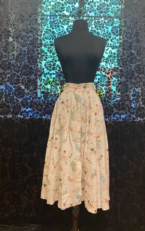 80's does 50's skirt
