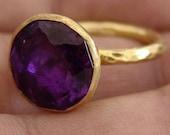Amethyst Ring Sterling Silver citrine Ring Adjustable Ring Womens Jewellery Amethyst Jewellery Minimalist Ring Modern Style