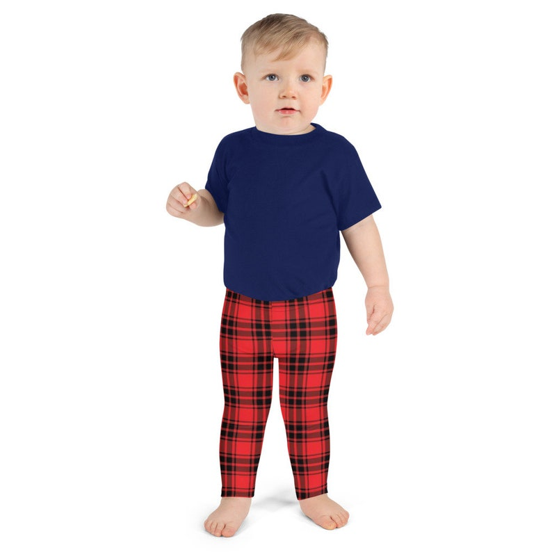 Kid/'sBoy Girl Children/'s Red Buffalo  Plaid  Matching Christmas LeggingsPajamas