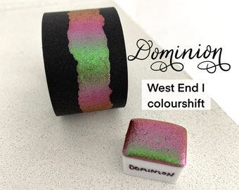 Dominion colorshift vegan handmade watercolor West End I calligraphy ink hand lettering half pan