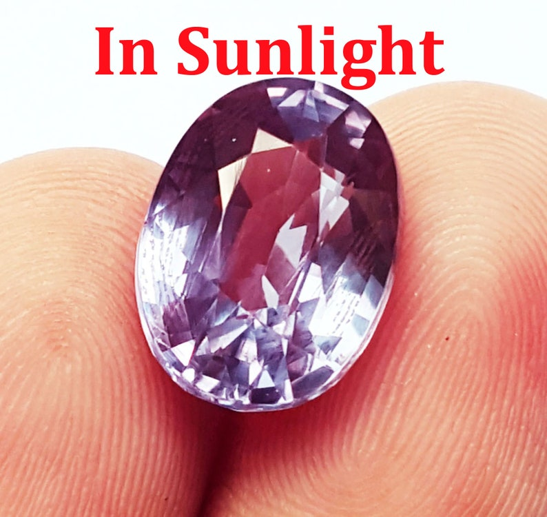 Loose Natural Alexandrite Excellent Gemstone Certified  Color Changing Stone 9.20 Ct With Free Delivery and Free Certificate