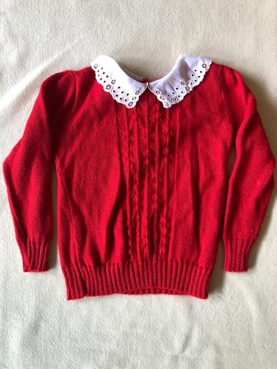 Retro HealthTex Kids Long Sleeve Shirt Size 4  Terrycloth 1970s Healthtex Stantogs Red Terry Velour Vintage Sweatshirt Red Yellow Blue