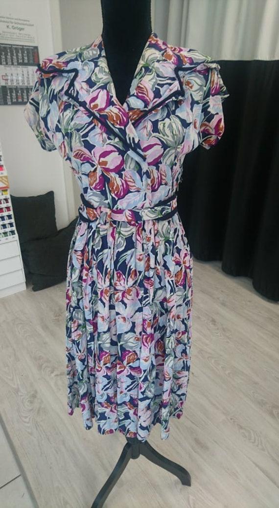 40s dress flowers 40s dress flowers S XS