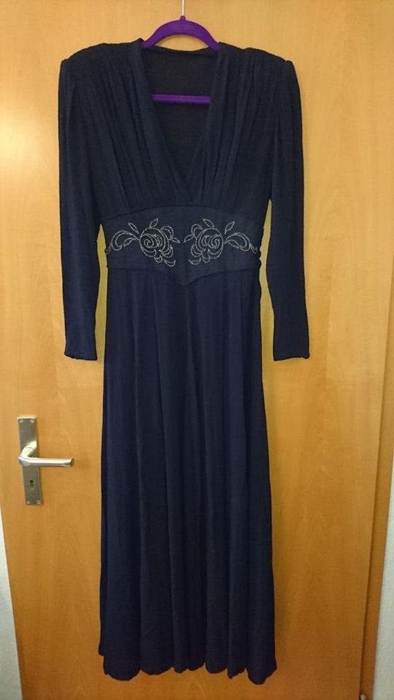 original 40s dress 40s vintage dress size XS rhin… - image 2