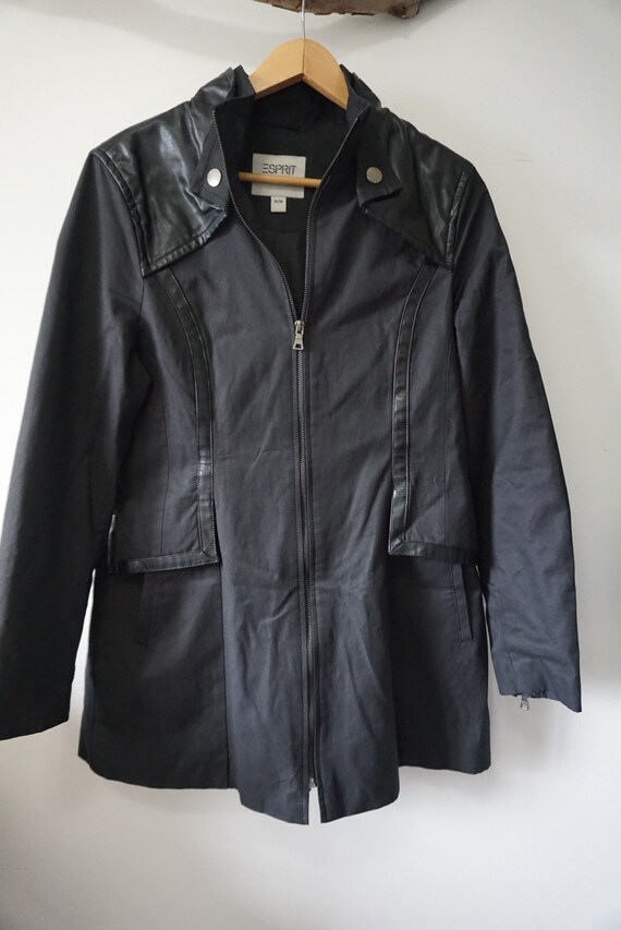 Esprit black trench coat