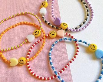 Smile beaded Bracelet • Handmade