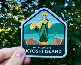 Kyoshi Island Sticker | Avatar the Last Airbender Travel Stickers | Vinyl Stickers| Waterproof Stickers | Laptop Decals | Avatar Kyoshi